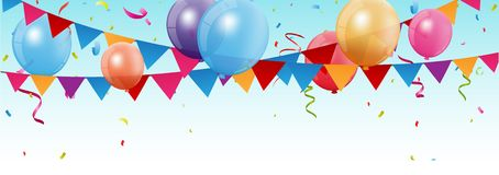 Birthday and celebration banner Royalty Free Stock Photo
