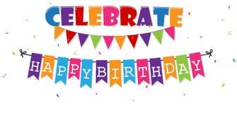 Birthday celebration banner Royalty Free Stock Photography