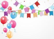 Birthday celebration banner. Illustration of Birthday celebration banner with bunting flags Royalty Free Stock Images