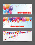 Birthday and celebration banner Stock Photo