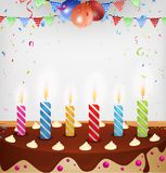 Birthday celebration with cake and decoration Royalty Free Stock Photo