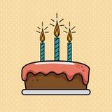 Birthday celebration cake sweet. Illustration design Royalty Free Stock Images