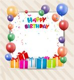 Birthday celebration card Royalty Free Stock Images