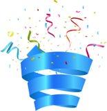 Birthday celebration with colorful confetti stock illustration