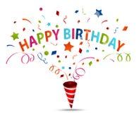 Birthday celebration with confetti Royalty Free Stock Photos