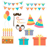 Birthday and celebration event. Flat design Vector Royalty Free Stock Photos