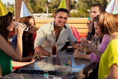 Birthday celebration with friends Royalty Free Stock Photo