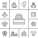 Birthday and celebration icons Stock Images