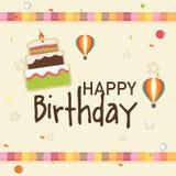 Birthday celebration invitation card design. Stock Images