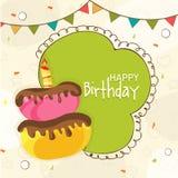 Birthday celebration Invitation card design. Royalty Free Stock Photos