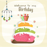 Birthday celebration Invitation card design. Royalty Free Stock Images