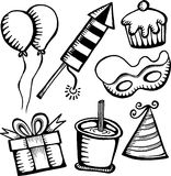 Birthday and Celebration Objects Royalty Free Stock Photos