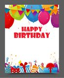 Birthday celebration party card design Stock Images