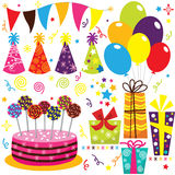 Birthday Celebration Set Stock Photography