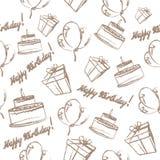 Birthday celebration symbols. Seamless pattern of the birthday celebration symbols for your design Stock Images