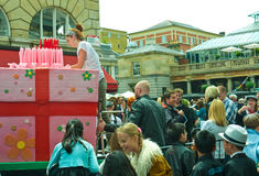 Birthday celebrations, Covent Garden Royalty Free Stock Photo