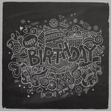 Birthday chalkboard background Stock Images