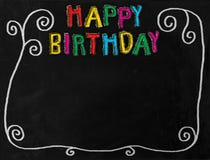 Birthday Chalkboard Border Stock Images