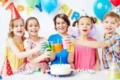 Birthday cheers Stock Photography