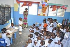 BIRTHDAY CHILD AT SCHOOL Stock Photos
