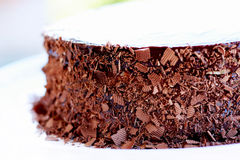 Birthday chocolate cake Stock Photo