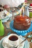 Birthday Chocolate Cake stock photography