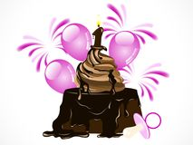 Birthday chocolate cake Royalty Free Stock Photography