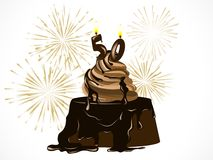 Birthday chocolate cake Stock Image