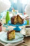 Birthday Chocolate Vanilla Sprinkles Cake stock image