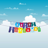 Birthday Clothesline Royalty Free Stock Photo
