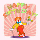 Birthday clown02 Royalty Free Stock Photography