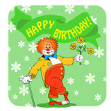 Birthday clown03 Stock Image