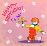Birthday clown05 Stock Images