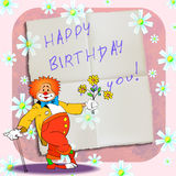 Birthday clown 01 Royalty Free Stock Image