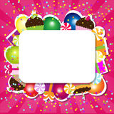 Birthday Color Card Royalty Free Stock Image