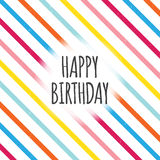 Birthday Color Lines Royalty Free Stock Photos