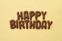 Birthday Cookies. Letter biscuits spelling out the words Happy Birthday Royalty Free Stock Image