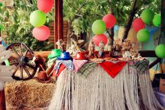 Birthday in cowboy's style Royalty Free Stock Image
