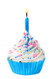 Birthday cupcake Royalty Free Stock Images