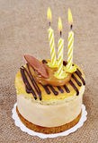 Birthday cupcake. royalty free stock images