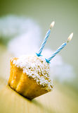 Birthday cupcake Stock Photography