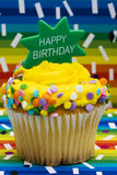 Birthday Cupcake Stock Image