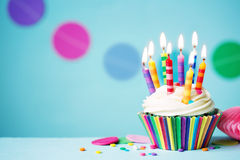 Free Birthday Cupcake Stock Photography - 64923872