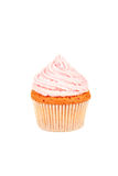 Birthday cupcake with butter cream isolated on white Royalty Free Stock Images