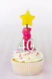 birthday cupcake fortieth Στοκ Εικόνες