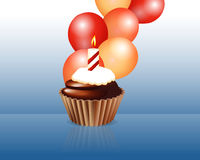 Birthday cupcake Greeting card Stock Photo