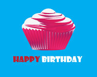 Birthday cupcake Greeting card Stock Photography