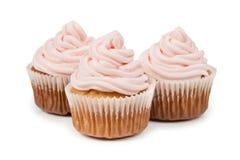 Birthday cupcake isolated on white background Stock Photos