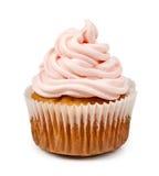 Birthday cupcake isolated on white background Royalty Free Stock Image