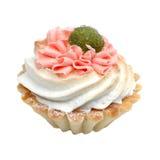 Birthday cupcake isolated on white Stock Photos